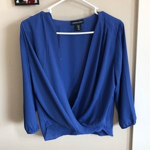 Cynthia Rowley blue top